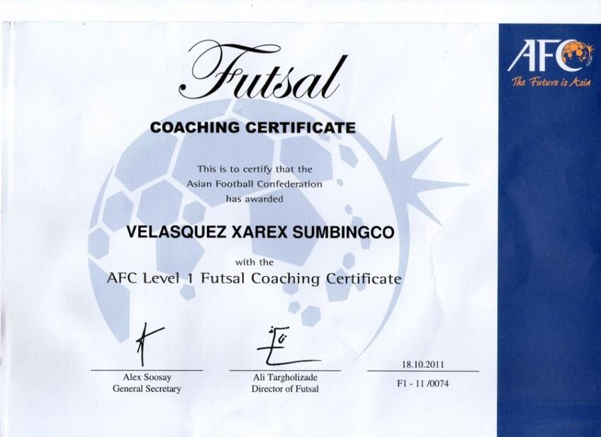 Afc Level 1 Coaching Certificate Email Pilipinas Futsal