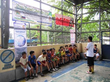 Free Futsal Clinic at Brgy. La Paz, Makati